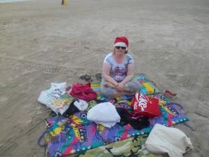 Kanskje det blir ein mote å gå med nissahua på stranda ein gång?